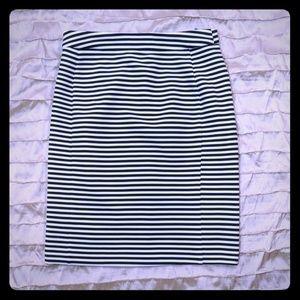 Hawthorne nautical stripe black white skirt S